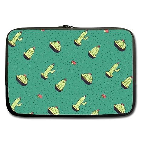 Fondo verde Cactus patrón mejor precio 17 inch Laptop/Ordenador portátil/ portátil (neopreno