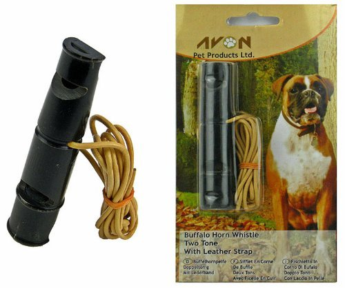 Buffalo Horn Whistle Two Tone Dog Training Obedience Gundog Train High Frequency (Dog Whistle Tone)