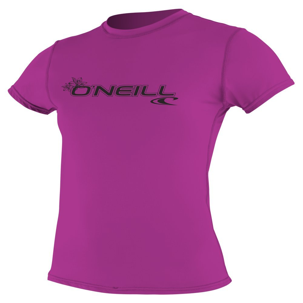 O'Neill  Women's Basic Skins Upf 50+ Short Sleeve Sun Shirt, Fox Pink, Small by O'Neill Wetsuits