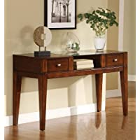 Furniture of America Bellevue 2-Drawer Console/Sofa Table, Tobacco Oak