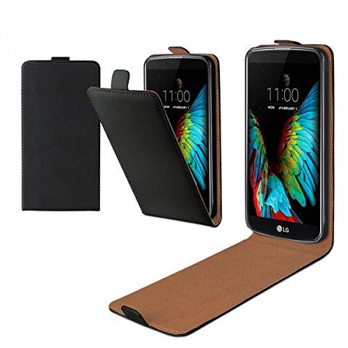 eFabrik Flip Case für LG K10 Hülle Schutz-Tasche Slim Cover Handy- Zubehör schwarz