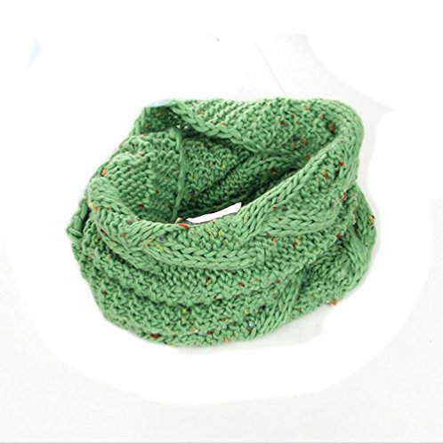 Baby Kids Hot Fashion Thick Knitted Scarf Winter Warm Infinity Scarf Neckerchief - 1932 Gold Framed Print