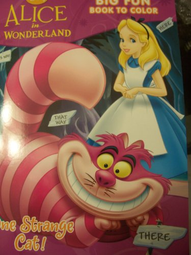 Disney Alice in Wonderland Coloring and Activity Book ~ One Strange (Strange Cat)
