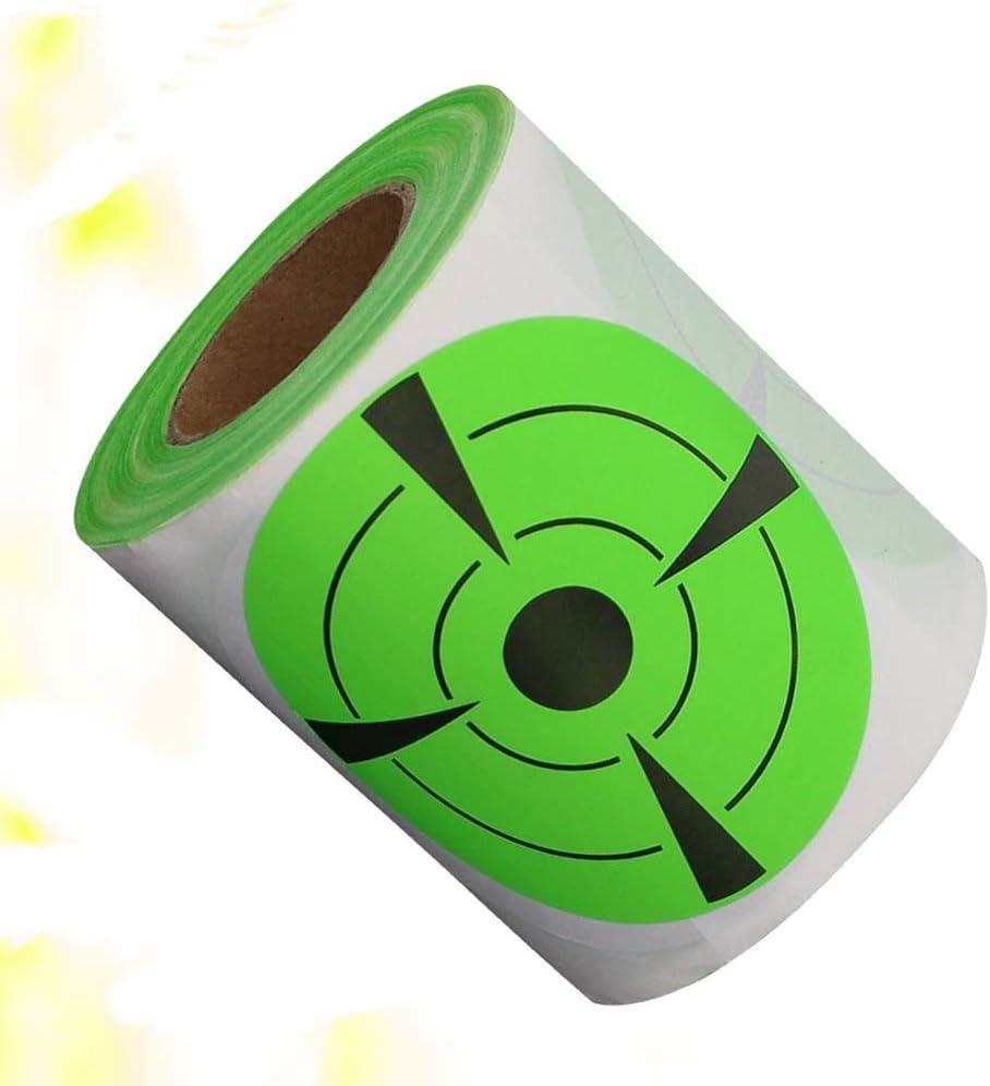 Zielscheibe selbstklebend Ziel-Aufkleber f/ür Indoor-/Übungen fluoreszierend Healifty 125 St/ück Ziel-Aufkleber