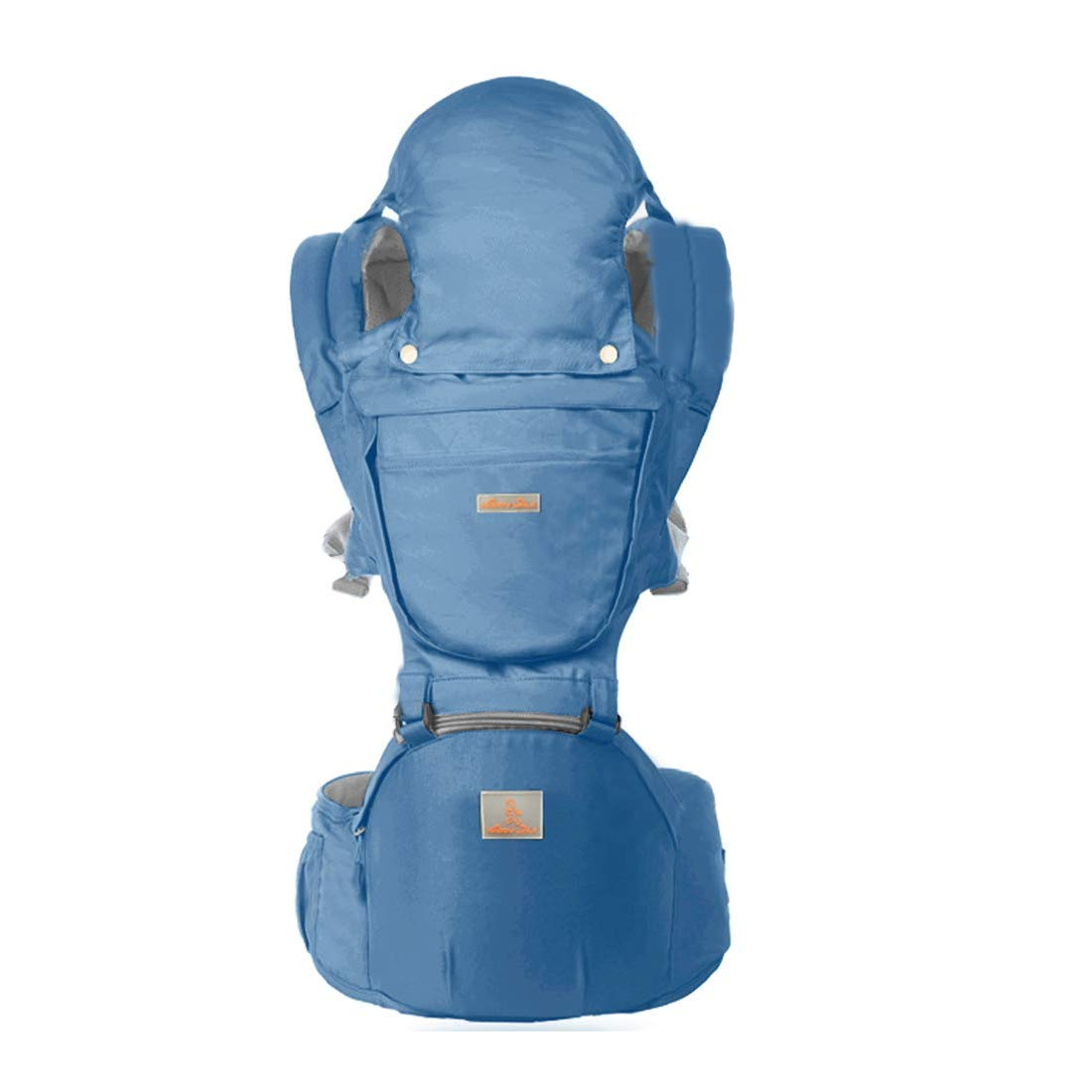 Baby Carrier with Hip Seat 360 Ergonomic 6-in-1 Convertible Hipseat Baby Waist Stool Carrier for All Seasons, Toddler Tush Stool, Baby Wrap Carrier Front and Back Blue