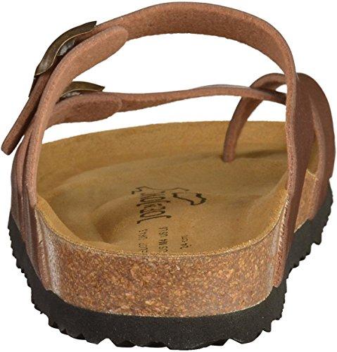 JOE N JOYCE Milano Damen Pantoletten Braun(brown)