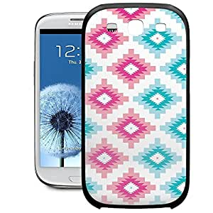 Bumper Phone Case For Samsung Galaxy S3 - Native American Tribal Brights Snap-On Rubber