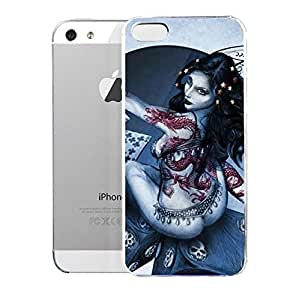 phone covers Light weight with strong PC plastic case for iPhone 5c Art Fantasy & Dragons Glitter Card Fairy
