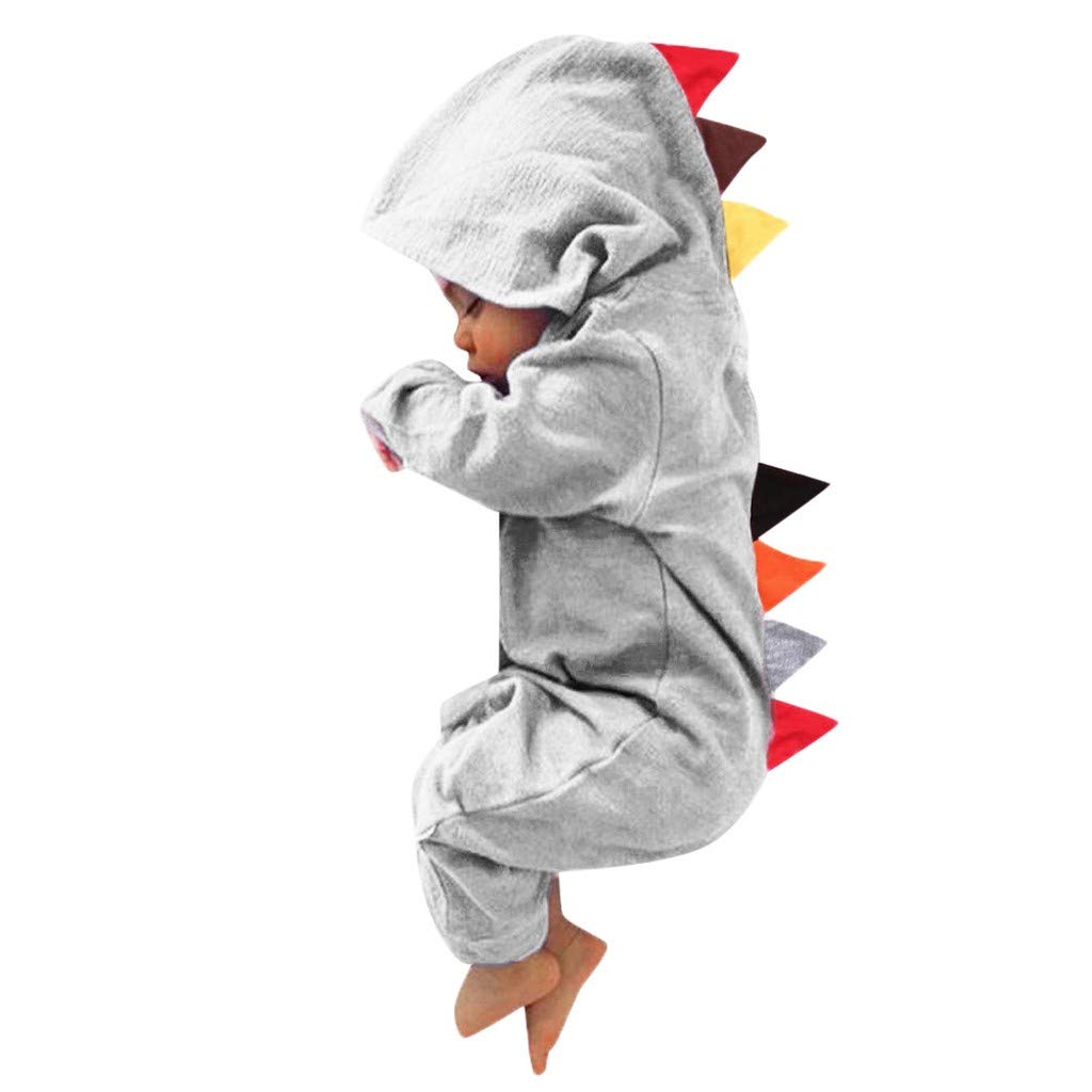 USA Unicorn Horn Infant Baby Boy Girl Hooded Romper Jumpsuit Kids Clothes Outfit