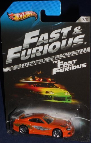 Hot Wheels 2013 The Fast and the Furious MovieToyota Supra 2/8, Orange (Toyota Supra Hot Wheels Fast And Furious)