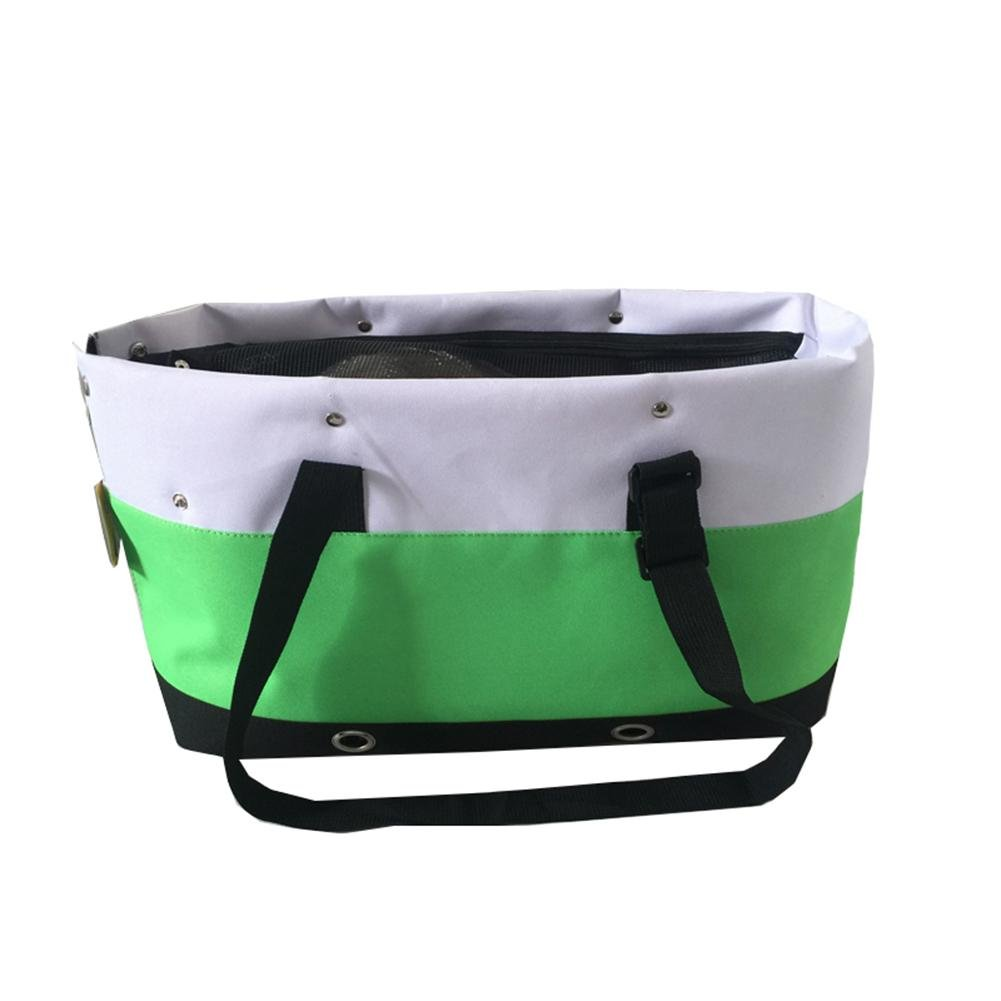 Green Portable Collapsible Mesh Breathable for Small Puppy Dogs Cats Travel Bag Handbag , Green