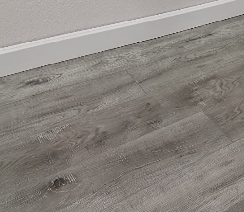 Turtle Bay Floors Waterproof Click WPC Flooring - Rustic Sawn Hardwood-Look Floating Floor - Choose From 2 Colors (SAMPLE, ELLSWORTH)
