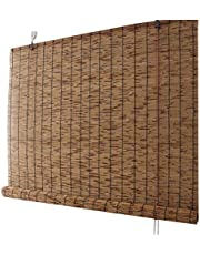 Reed Curtain for Window,Bamboo Blinds,Roller Shades for Outdoor/Patio, Breathable,Waterproof,Hand-Woven Blinds