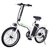 Product icon of White Bicycle Electric Folding Bike 250W 20 Inch Lithium