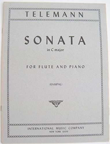 Sonata in C Major [Flute & Piano Sheet Music Folio] (International Music Co, 3008) ()