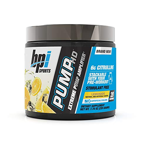 BPI Sports Pump HD for Men & Women, Lemonade, 20 Servings, 7.76 oz.