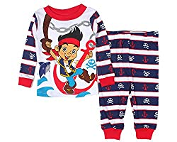 Disney Jake and the Never Land Pirates Boys 2 Piece Cotton Pants Pajama Set (12 Months)