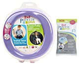 Kalencom 2 in 1 Potette Plus Portable Potty-Toilet Training Seat with 30 Potty Liners Set (Lilac)