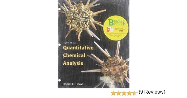 Quantitative Chemical Analysis Daniel C Harris