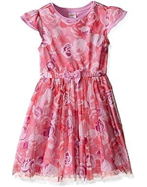 Baby Girls' Rose Print Tutu Dress
