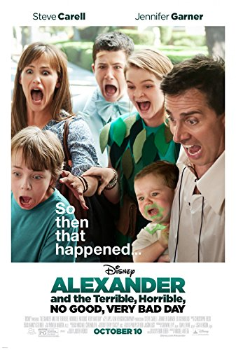 ALEXANDER AND THE TERRIBLE, HORRIBLE, NO GOOD, VERY BAD DAY Original Movie Poster 27x40 - DS - STEVE CARELL - JENNIFER GARNER