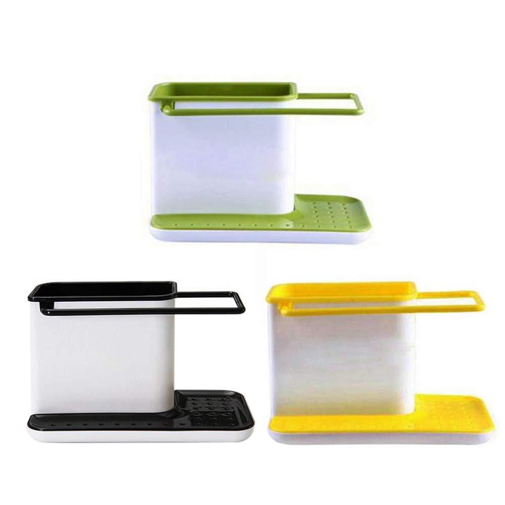 VT BigHome Holder Sponge Kitchen Box Draining Rack Dish Self Draining Sink Storage Rack Kitchen Organizer Stands Utensils Towel Rack