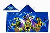 Nickelodeon Teenage Mutant Ninja Turtles Dimension X Theme Hooded Bath Towel, 100% cotton