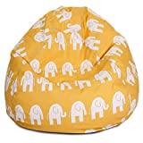 Abstract Elephant design, cotton canvas comfort research printed bean bag cover Size XXL by Aart Store