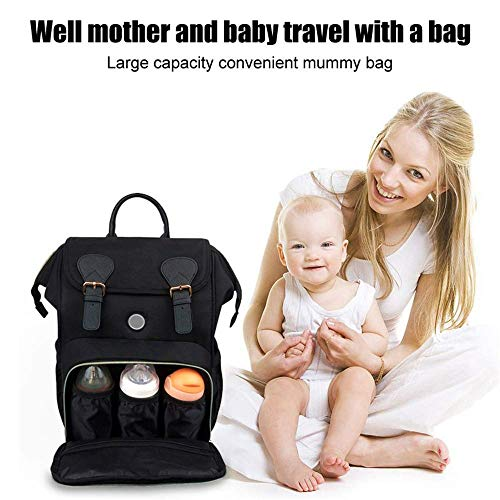 812OZ LED UV Disinfection Diaper Bag Nappy Bags with USB Charging Mode, Portable Multi-Function Waterproof Travel Backpack for Mom and Baby Care