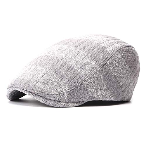 SXBag Unisex Winter Adjustable Flat Cap Cotton Knitted Newsboy Stripes Ivy Gatsby Duckbill Irish Cap` (Color : 1, Size : Free Size)