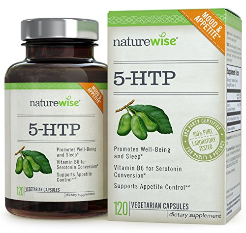 NatureWise 5-HTP 100 mg - Supports Appetite Suppression, Mood, Stress, and Sleep, 120 Vegetarian Capsules