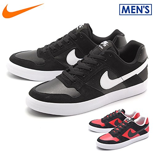 Nike SB Delta Force Vulc - Scarpe da Skateboard Uomo BLACK/BLACK-UNIVERSITY RED