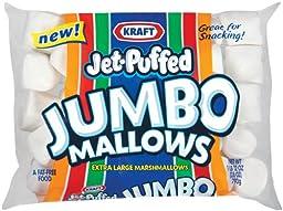 Kraft Jet Puffed Jumbo Marshmallow, 24-Ounce (Pack of 4)
