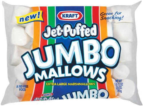 Kraft Jet Puffed Jumbo Marshmallow, 24-Ounce (Pack of 4) by Jet-Puffed (Image #1)