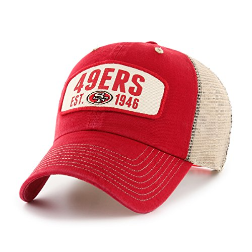 Nfl 49ers Fan Francisco San (NFL San Francisco 49ers Woodford OTS Challenger Adjustable Hat, Red, One Size)