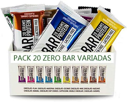 Biotech Zero Bar 50g Pack 20 uds sabores variados: Amazon.es ...