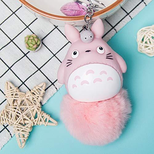 Best Quality - Plush Keychains - New Mini my neighbor Blue totoro plush keychain toy kawaii anime totoro umbrella stuffed plush cat doll key ring - by NEWSTARWAR - 1 PCs