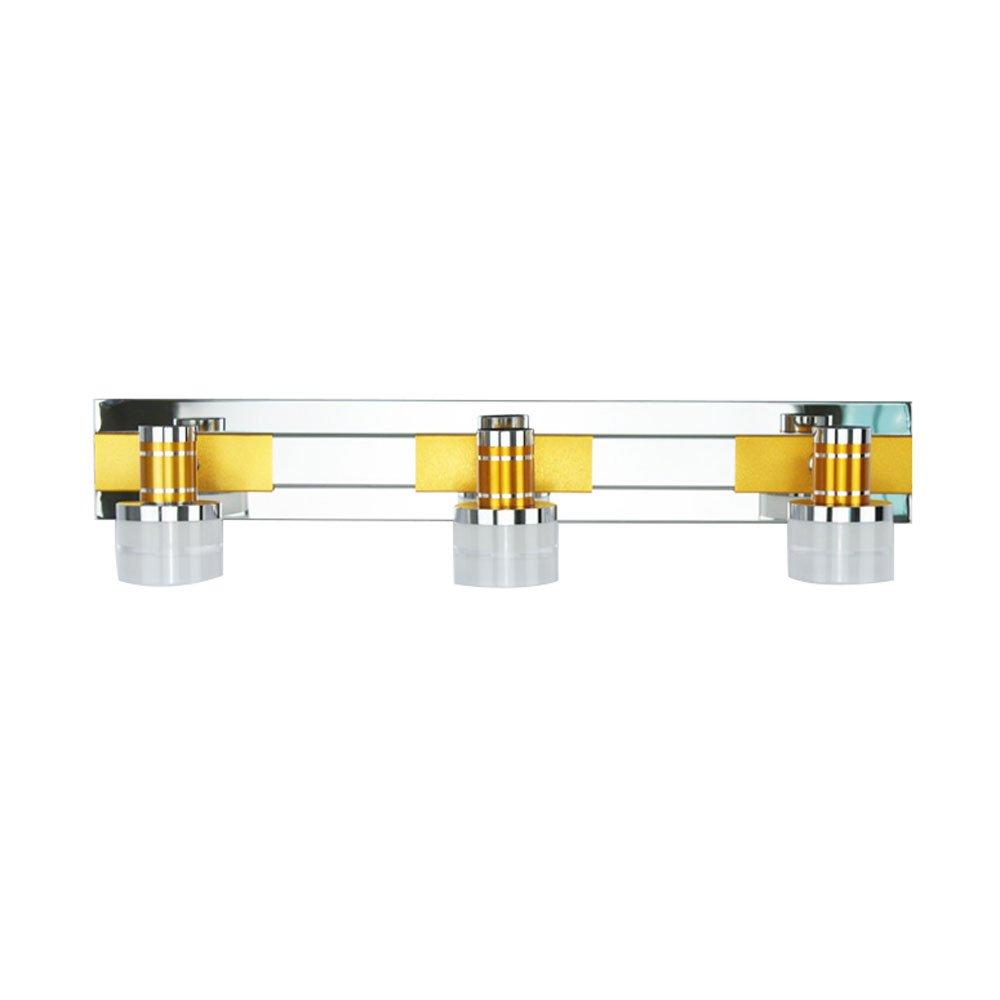 HTZ Einfache LED-Spiegel-vordere Lichter, Badezimmer-Verfassungs-Spiegel-Kabinett-Lichter, 3 Helles Justierbares, Edelstahl +