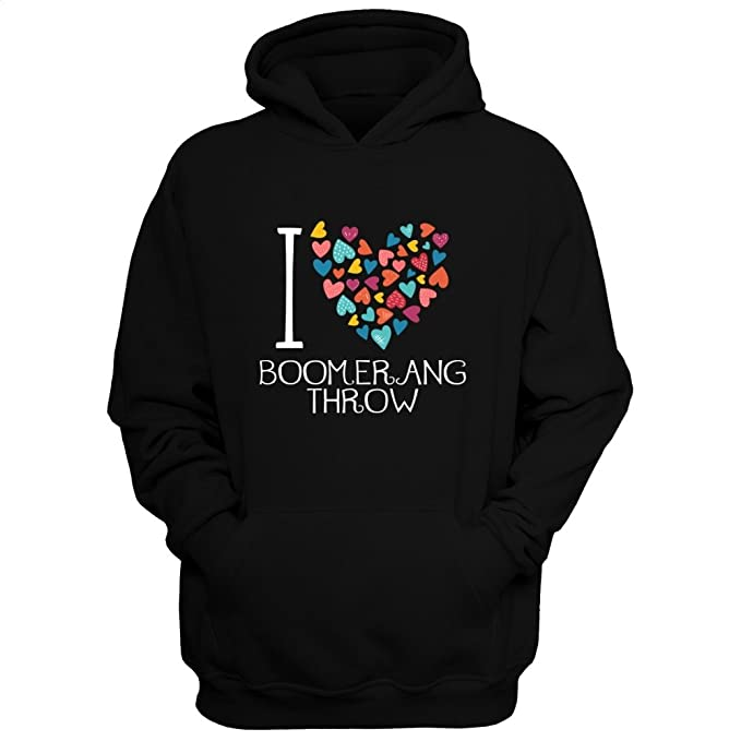 Idakoos I love Boomerang Throw colorful hearts - Deportes - Sudadera con capucha: Amazon.es: Ropa y accesorios
