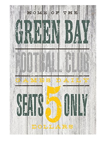Green Bay Football Club Rustic Metal Sign - 12