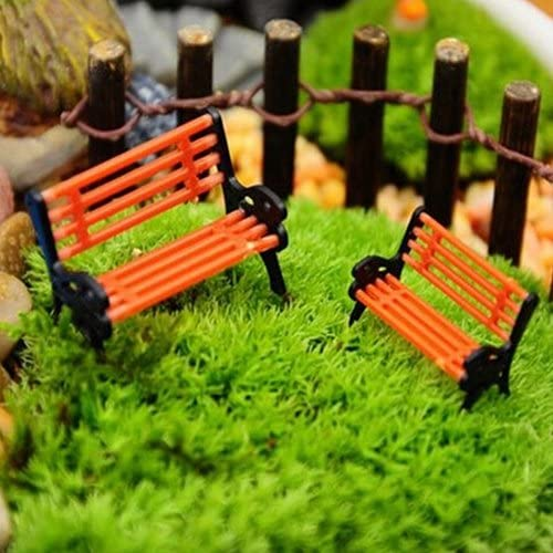Decoración de jardín en miniatura – mejor decoración de arte para plantas al aire libre interior Mini adorno miniatura Park Bench Craft DIY casa decoración Banca Modelo: Amazon.es: Hogar