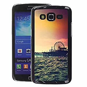 Supergiant (Sunset Coney Island New York Summer) Impreso colorido protector duro espalda Funda piel de Shell para Samsung Galaxy Grand 2
