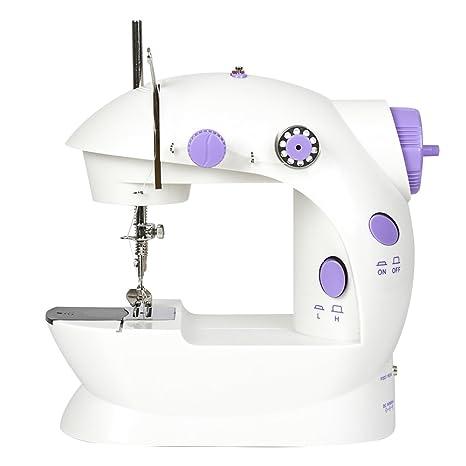 Tourwin - Mini máquina de coser portátil con 2 velocidades, ideal para principiantes, con