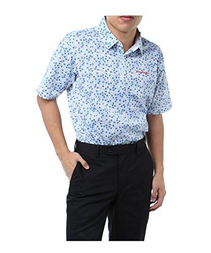 ツアーディビジョン メンズ ゴルフウェア ポロシャツ 半袖 小花プリント半袖Tシャツ TD220101H05 BL L