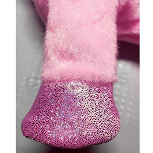 Electric Unicorn Pet Kids Leash Plush Pink Wings Stuffed Animal Toy,Sing Song Walk Twisting Super Cute Ass Unicorn Child Girl Baby Accompany Sleeping Animal Soft Toys Gift by Pink stars (Image #4)