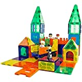 Mag-Genius Magnet Tiles 102 Piece Set Includes All The New Magnet Tiles and Clickins to Build The Perfect Castle Includes Clip in Windows and All New Magnet People
