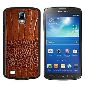 """Be-Star Único Patrón Plástico Duro Fundas Cover Cubre Hard Case Cover Para Samsung i9295 Galaxy S4 Active / i537 (NOT S4) ( Marrón imitación cuero de la piel de imitación de Tela"""" )"""