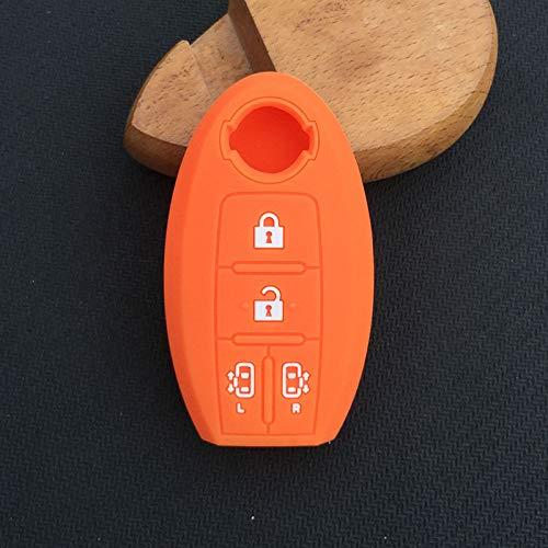 HITSAN 4 button Silicone car key cover for nissan qashqai juke x-trail note tiida almera Altima Serena C26 4 button key Alarm Accessories