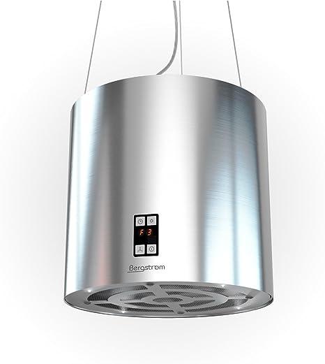 Bergstroem Diseño Isla Campana campana extractora freihängend Acero Inoxidable techo: Amazon.es: Grandes electrodomésticos