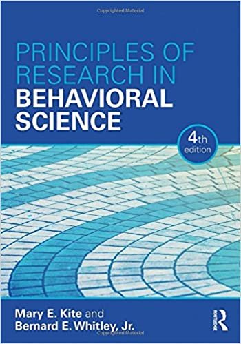 Principles of Research in Behavioral Science Fourth Edition